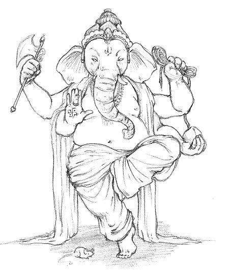 Ganesha in pencil, 2006